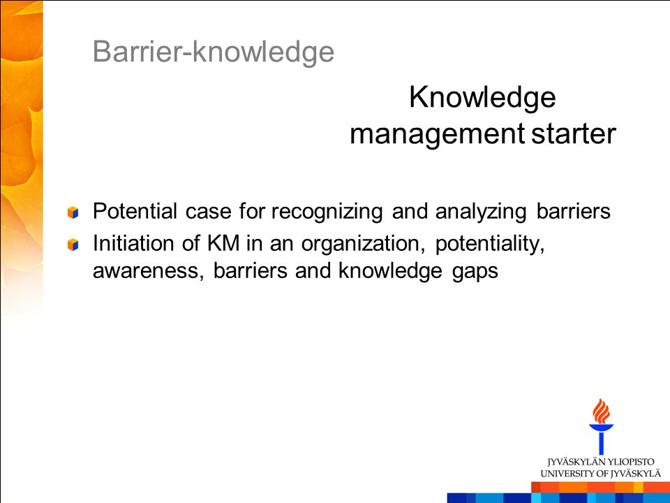 Knowledge management starter