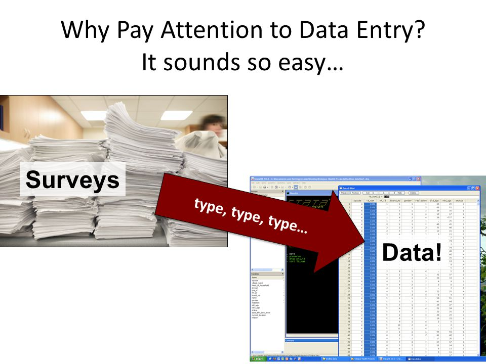 Why Pay Attention to Data Entry It sounds so easy…