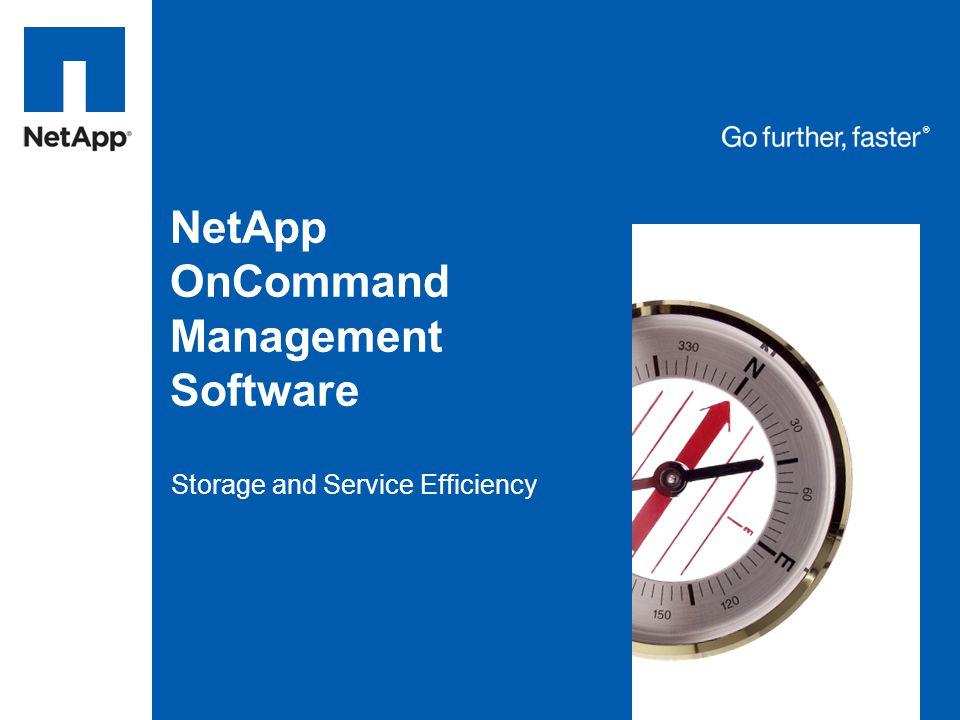 NetApp OnCommand Management Software