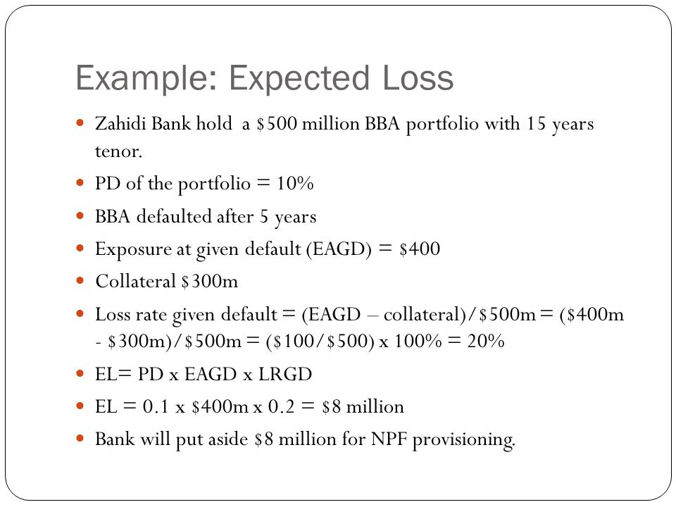 Example: Expected Loss