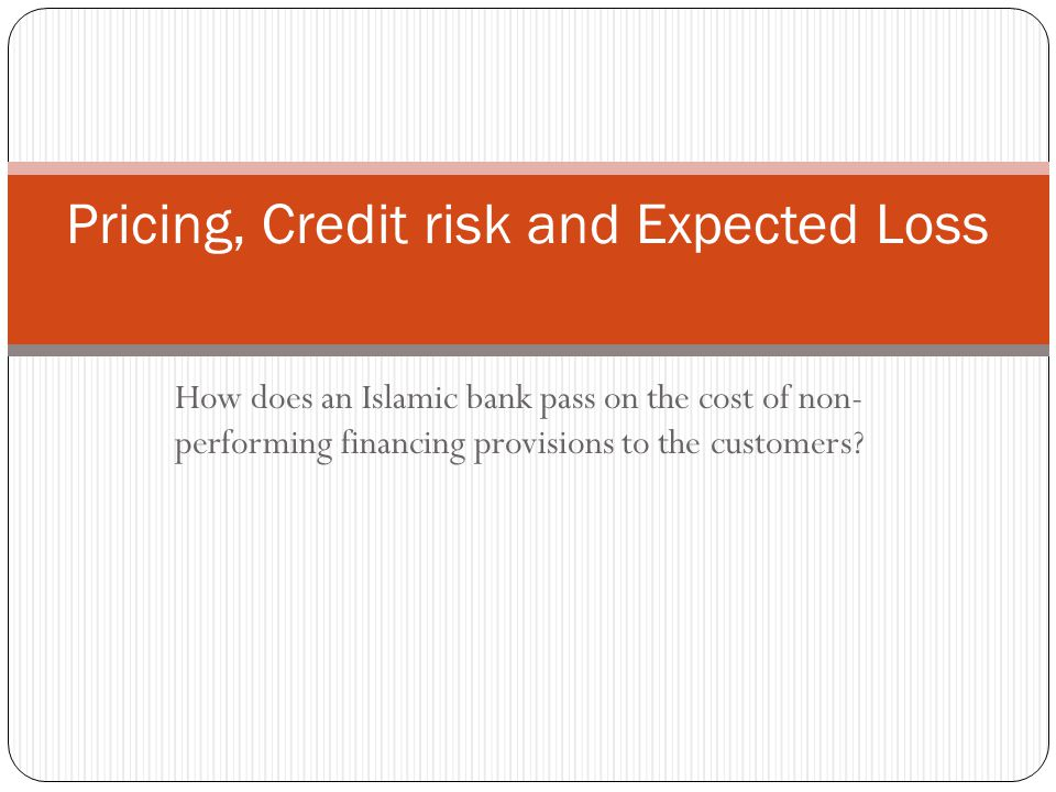 Pricing, Credit risk and Expected Loss