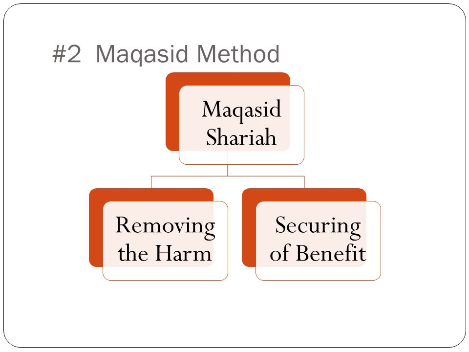 Maqasid Shariah Removing the Harm Securing of Benefit