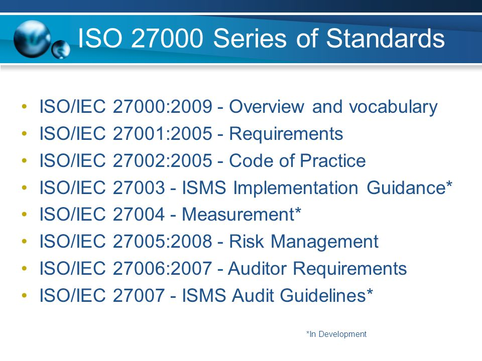 ISO 27000 Series of Standards