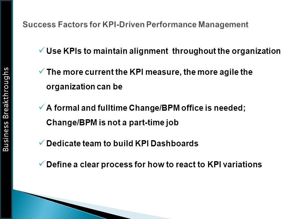 Success Factors for KPI-Driven Performance Management