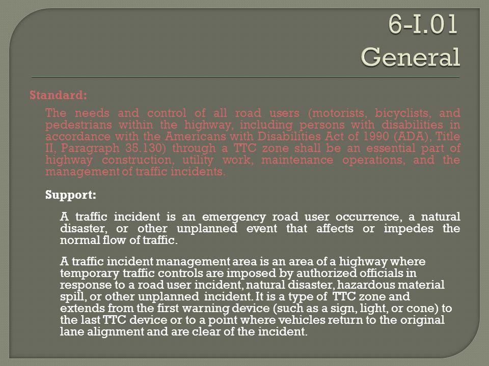 6-I.01 General Standard: Support: