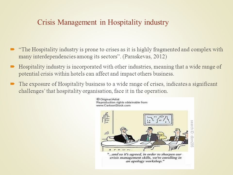 Crisis Management in Hospitality industry