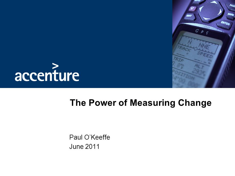 The Power of Measuring Change
