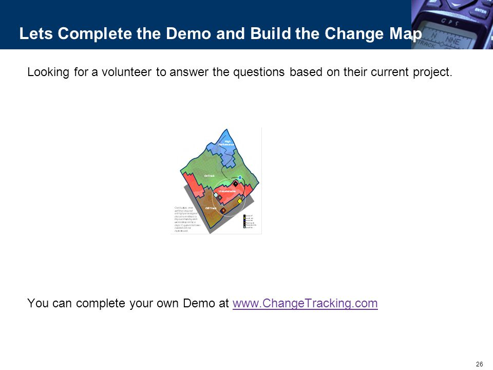 Lets Complete the Demo and Build the Change Map