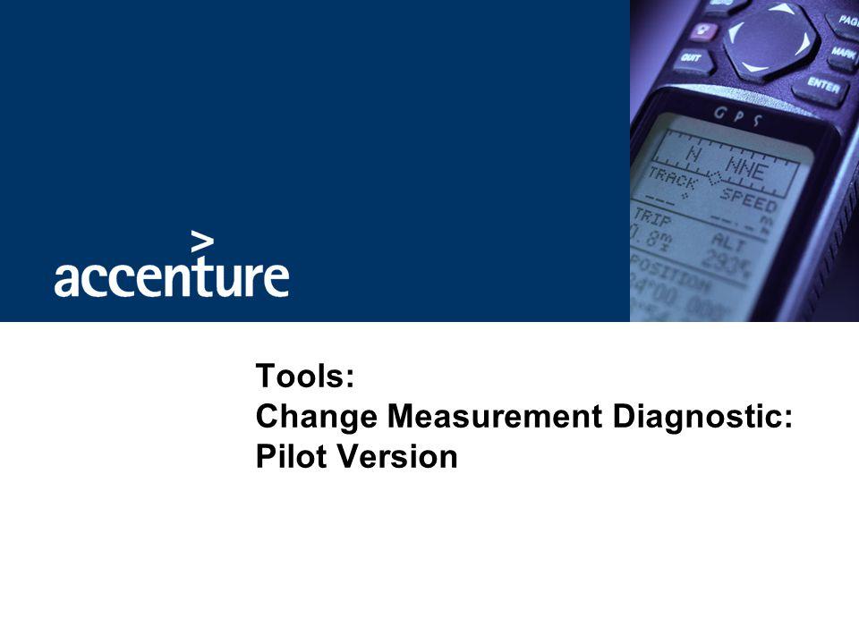 Tools: Change Measurement Diagnostic: Pilot Version