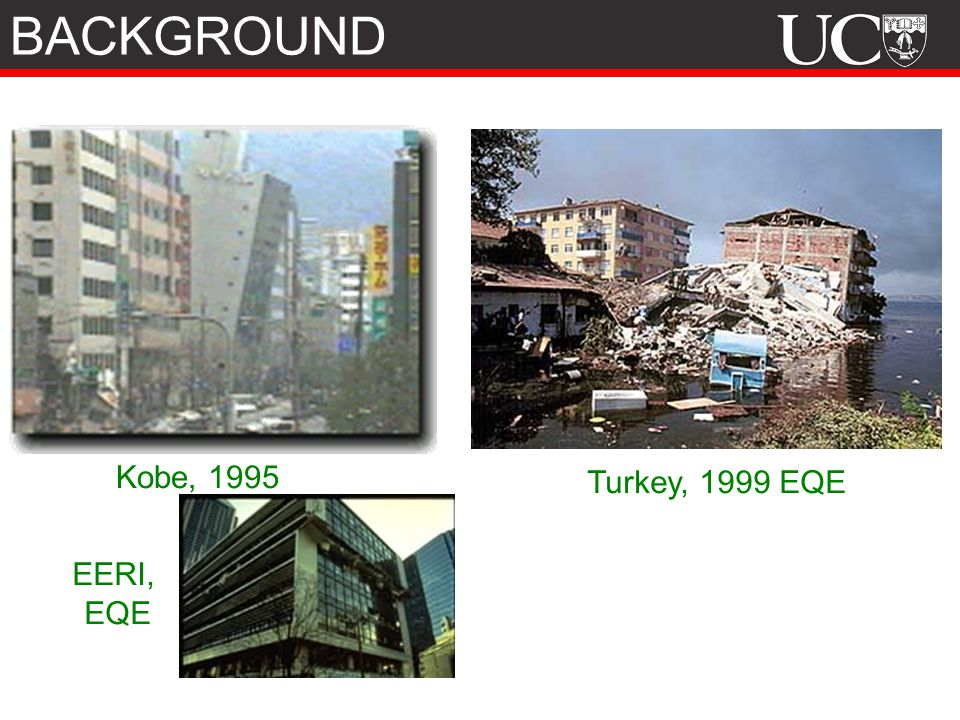 BACKGROUND Kobe, 1995 Turkey, 1999 EQE EERI, EQE