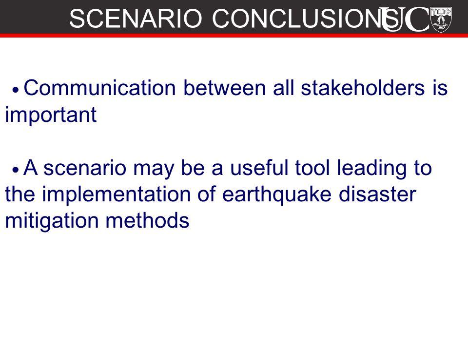 SCENARIO CONCLUSIONS