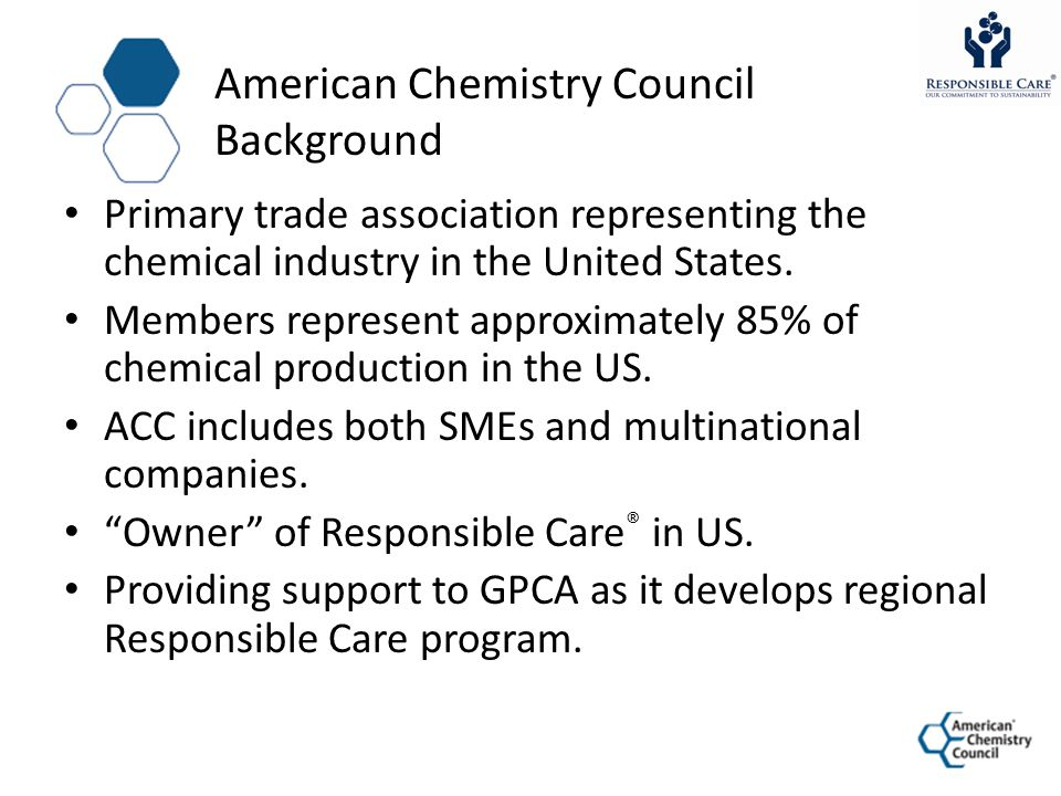 American Chemistry Council Background