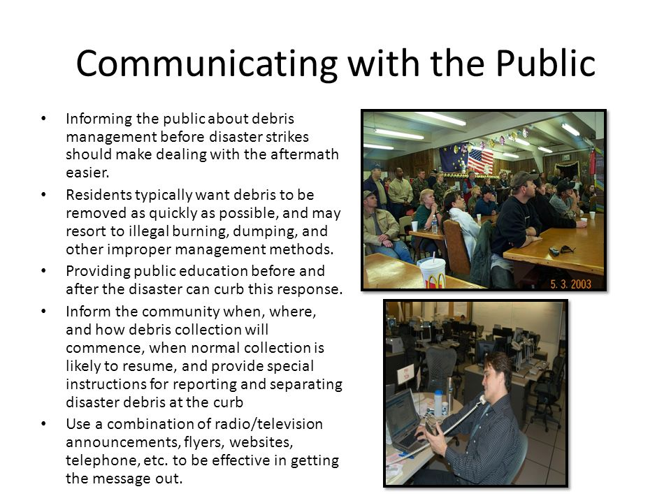 Communicating with the Public