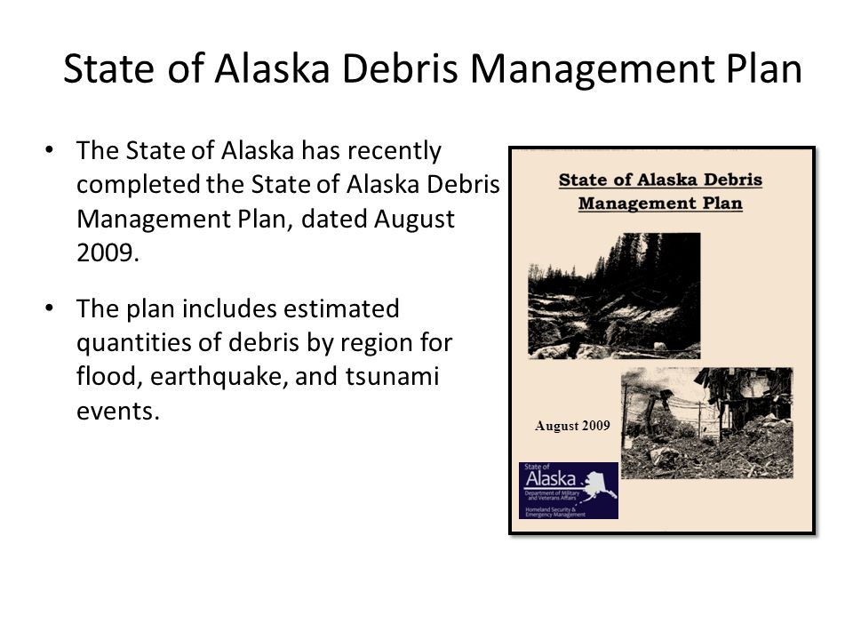 State of Alaska Debris Management Plan