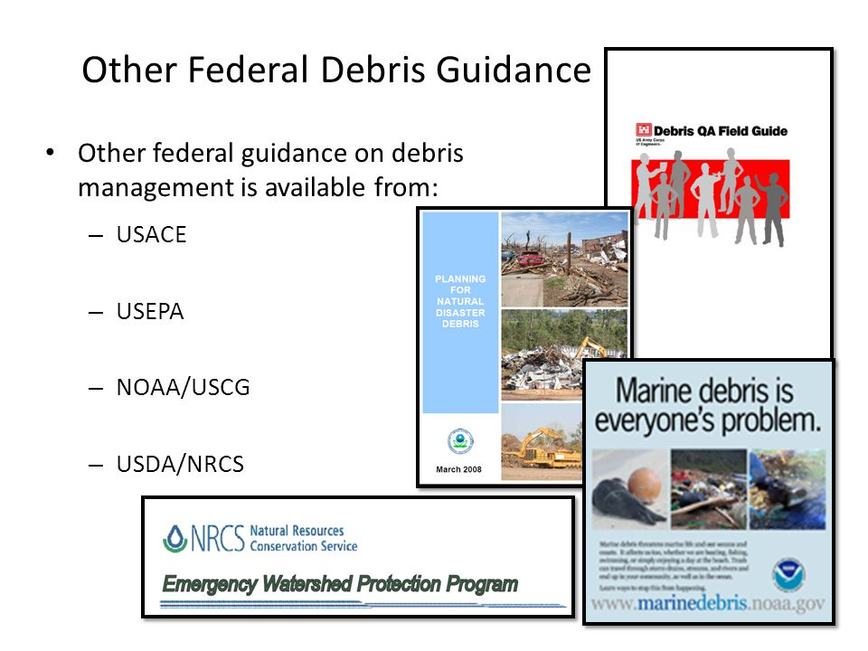 Other Federal Debris Guidance