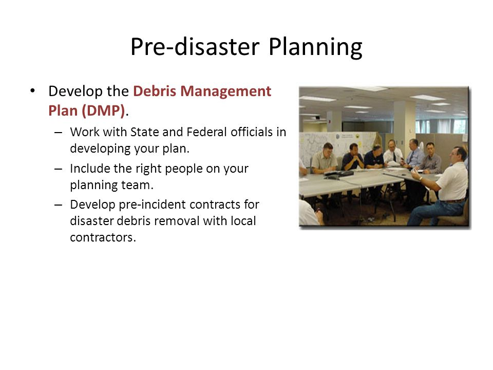 Pre-disaster Planning