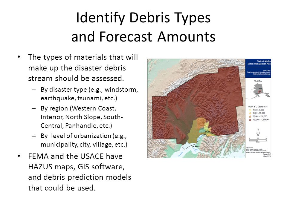 Identify Debris Types and Forecast Amounts