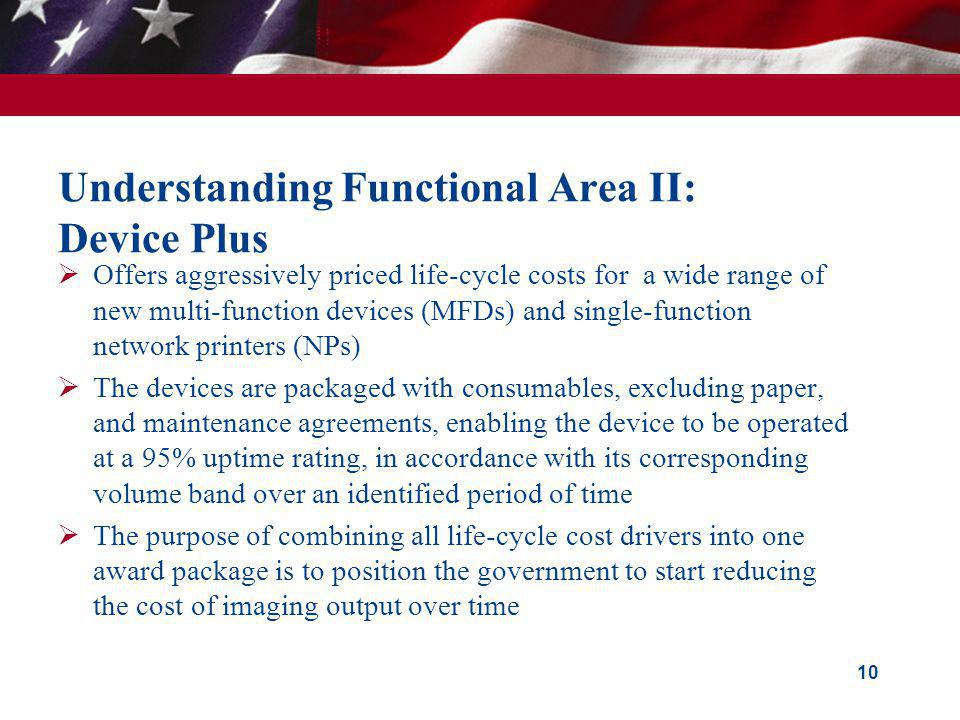 Understanding Functional Area II: Device Plus