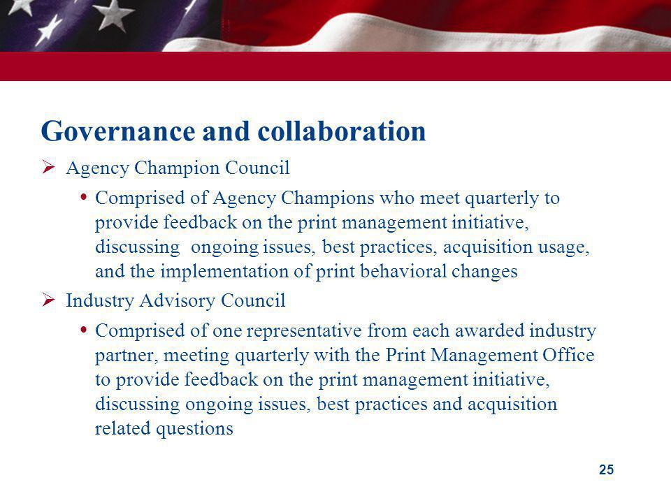 Governance and collaboration