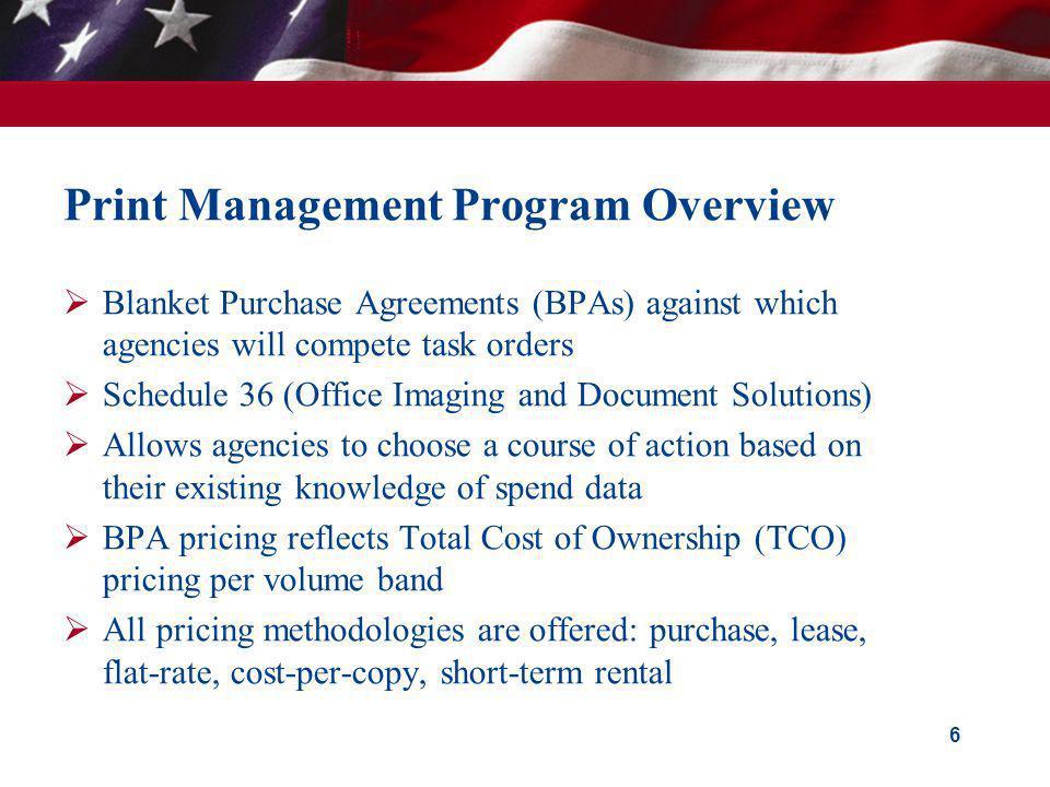 Print Management Program Overview