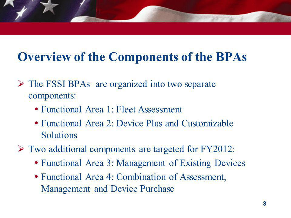 Overview of the Components of the BPAs