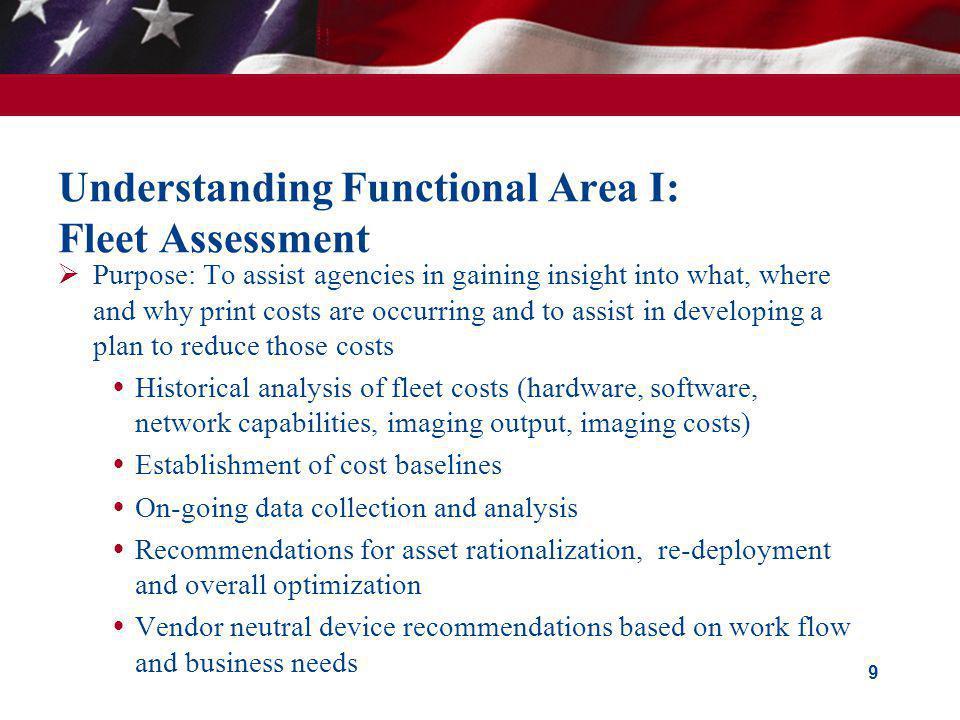 Understanding Functional Area I: Fleet Assessment