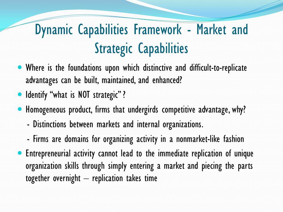 Dynamic Capabilities Framework - Market and Strategic Capabilities