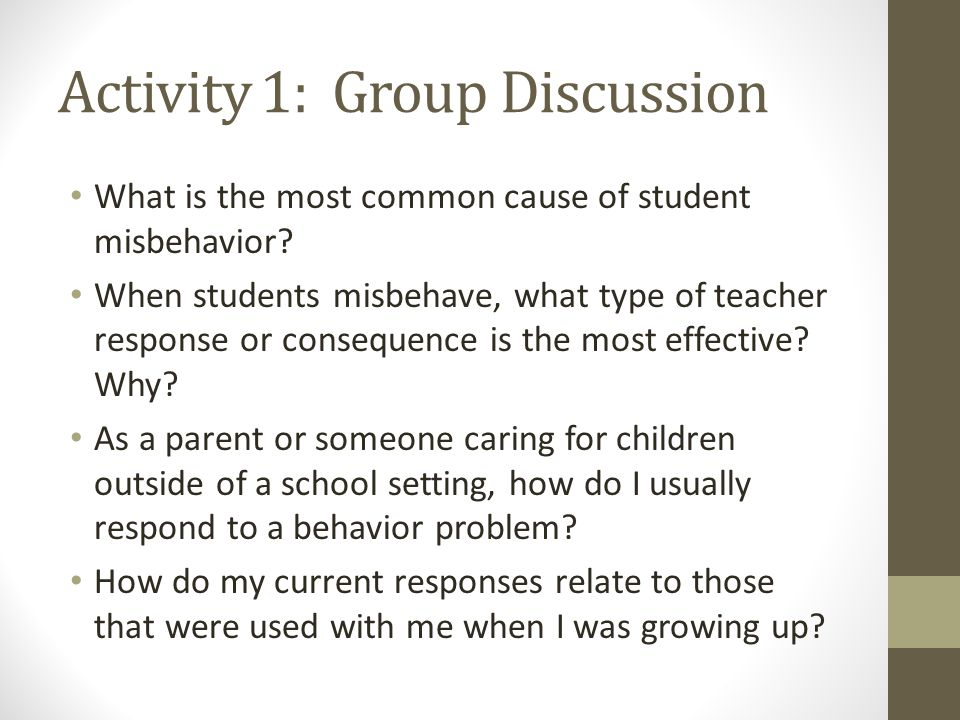 Activity 1: Group Discussion