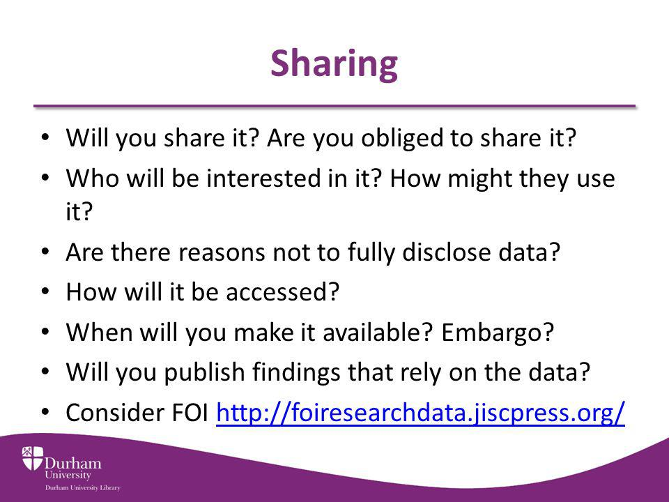 Sharing Will you share it Are you obliged to share it