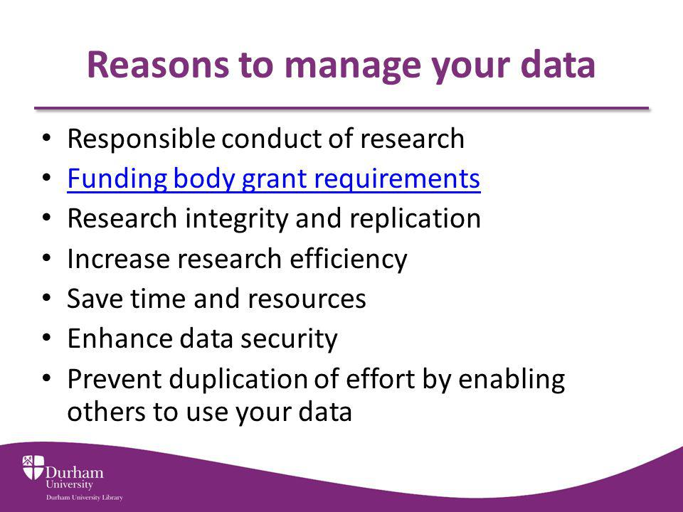 Reasons to manage your data