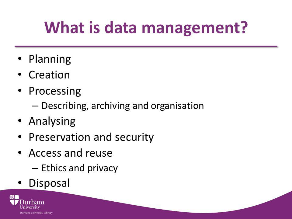 What is data management