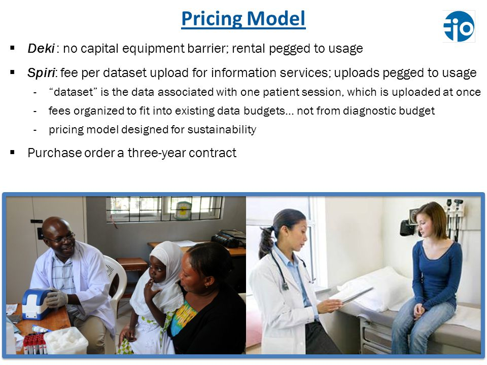 Pricing Model Deki : no capital equipment barrier; rental pegged to usage.