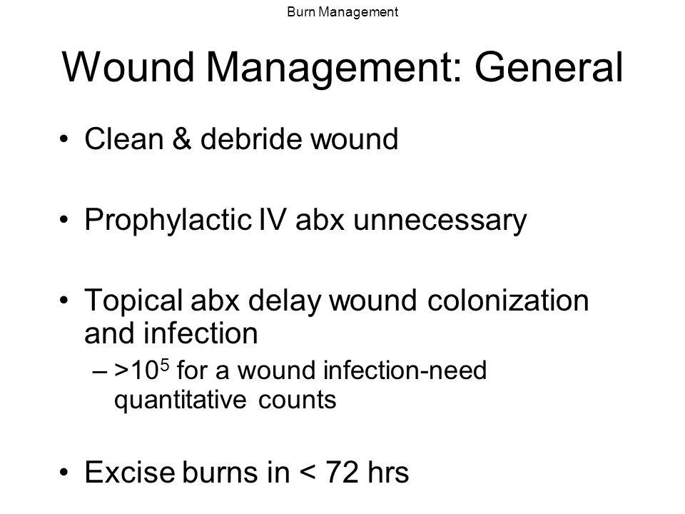 Wound Management: General