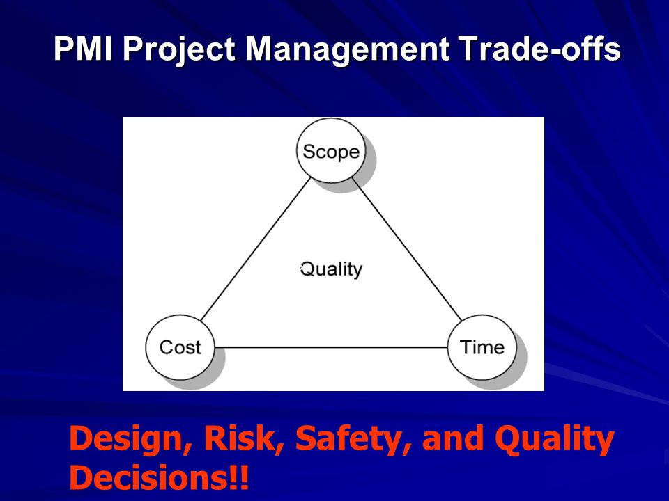 PMI Project Management Trade-offs