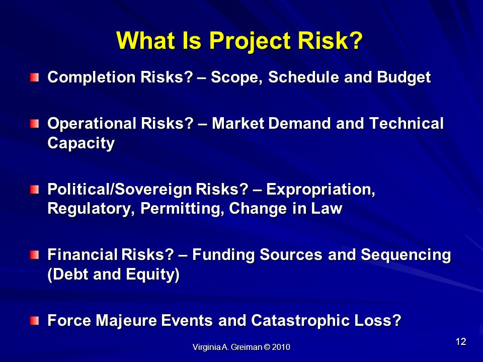 What Is Project Risk Completion Risks – Scope, Schedule and Budget