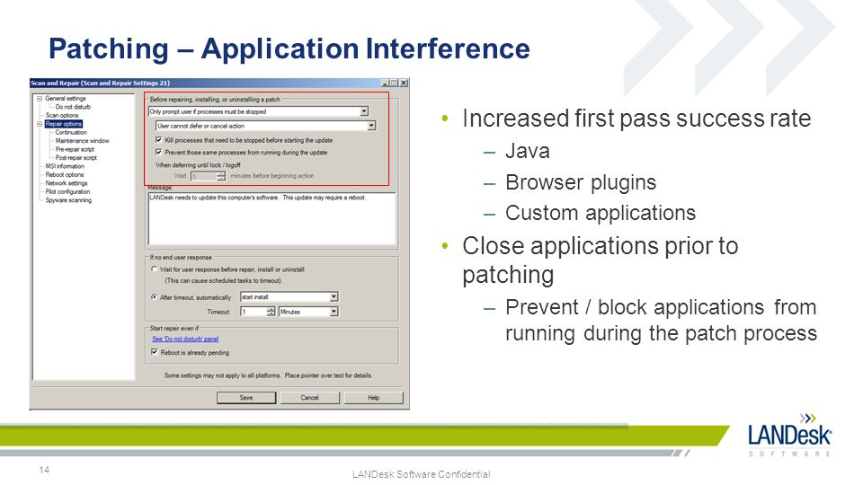 Patching – Application Interference