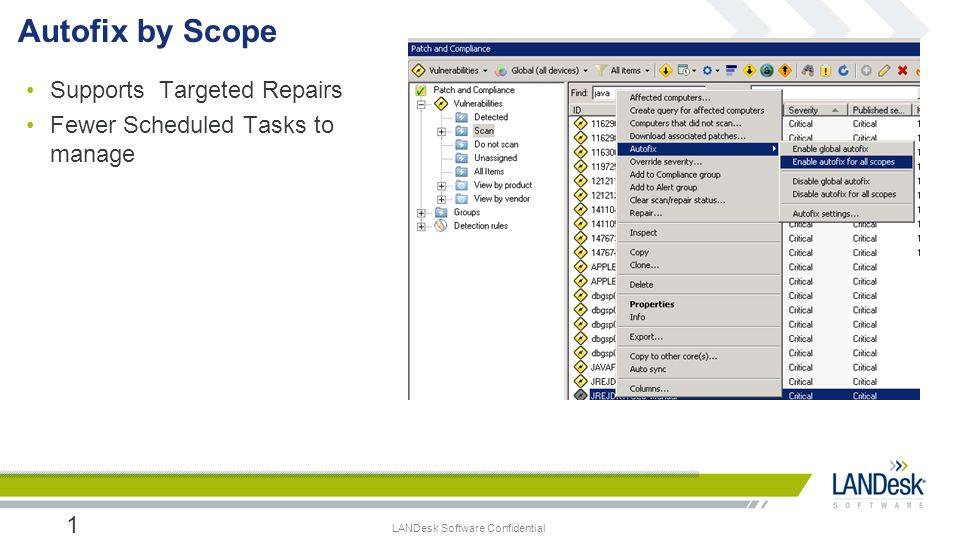 Autofix by Scope Supports Targeted Repairs