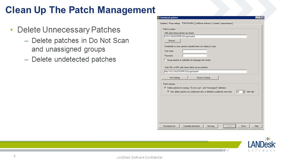 Clean Up The Patch Management