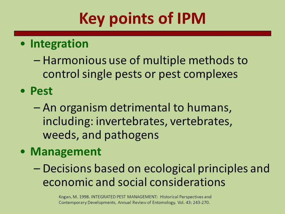 Key points of IPM Integration