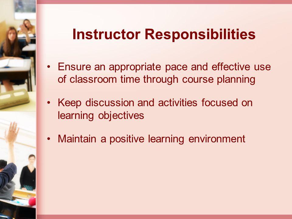Instructor Responsibilities