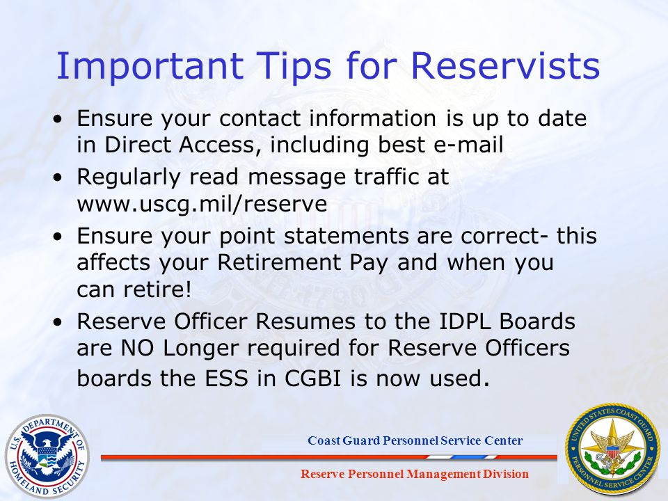 Important Tips for Reservists