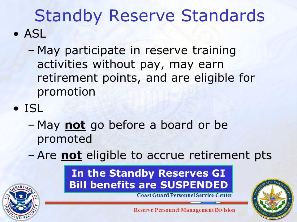 Standby Reserve Standards
