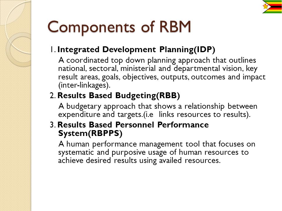 Components of RBM