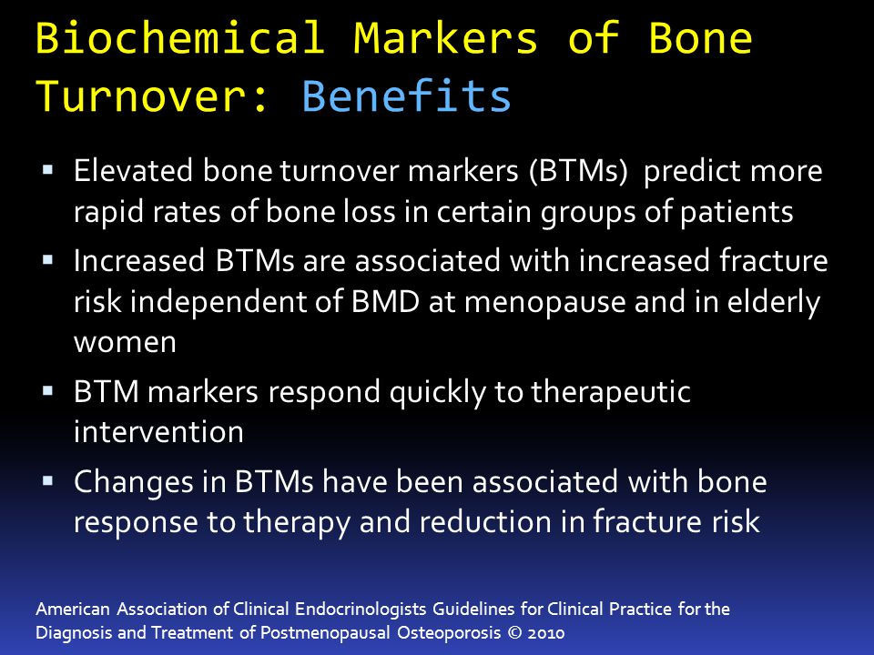 Biochemical Markers of Bone Turnover: Benefits
