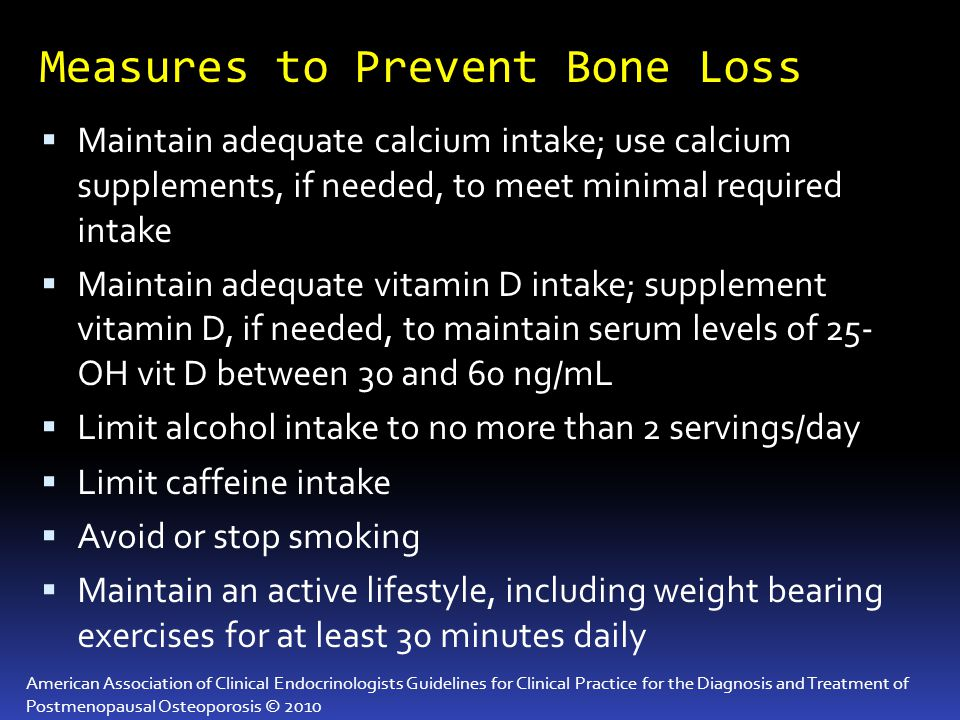 Measures to Prevent Bone Loss
