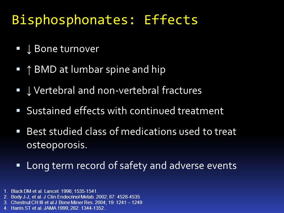 Bisphosphonates: Effects