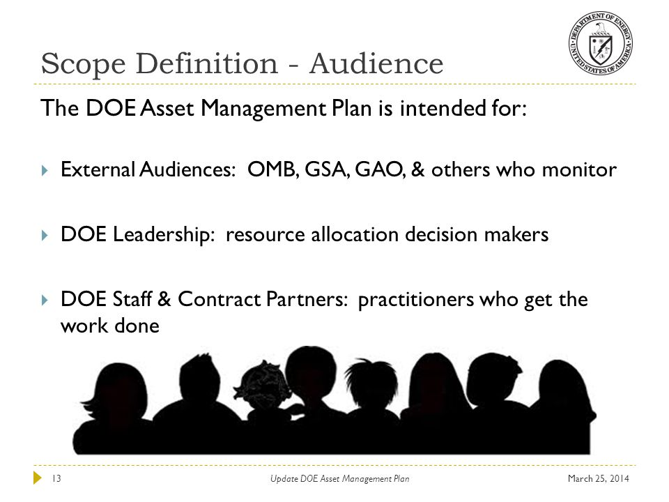 Scope Definition - Audience