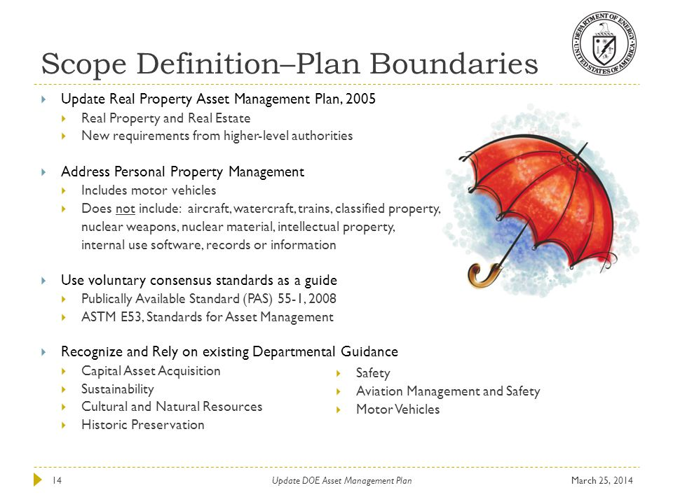 Scope Definition–Plan Boundaries