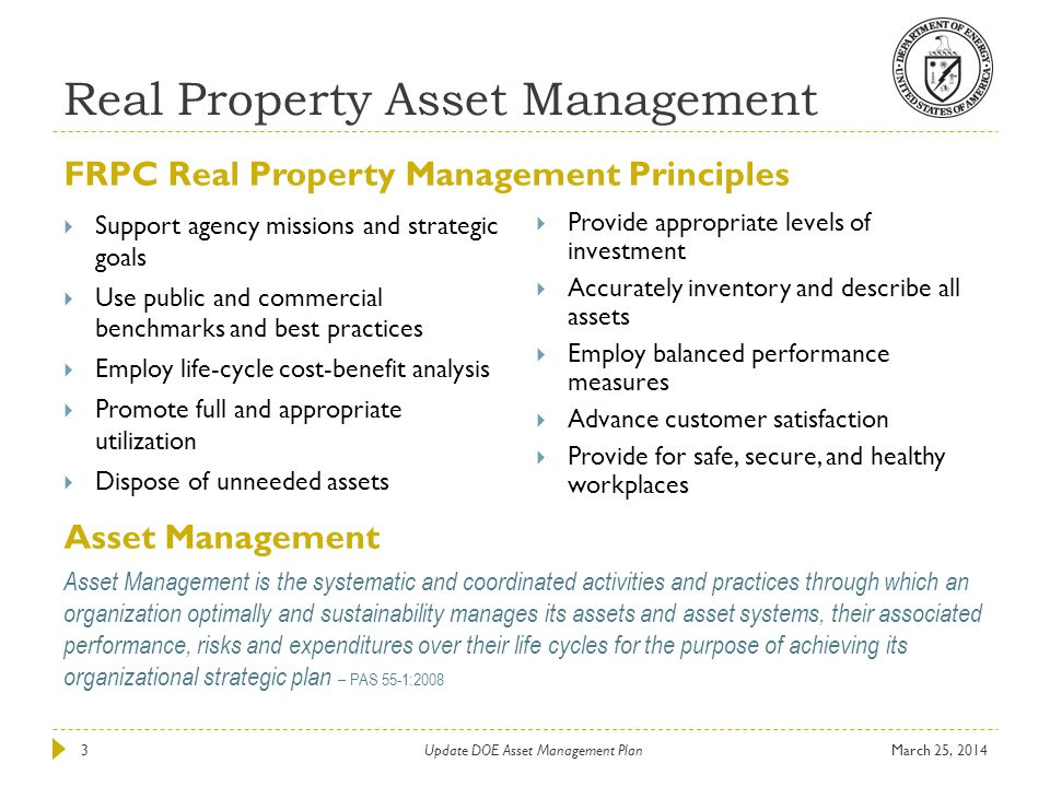 Real Property Asset Management