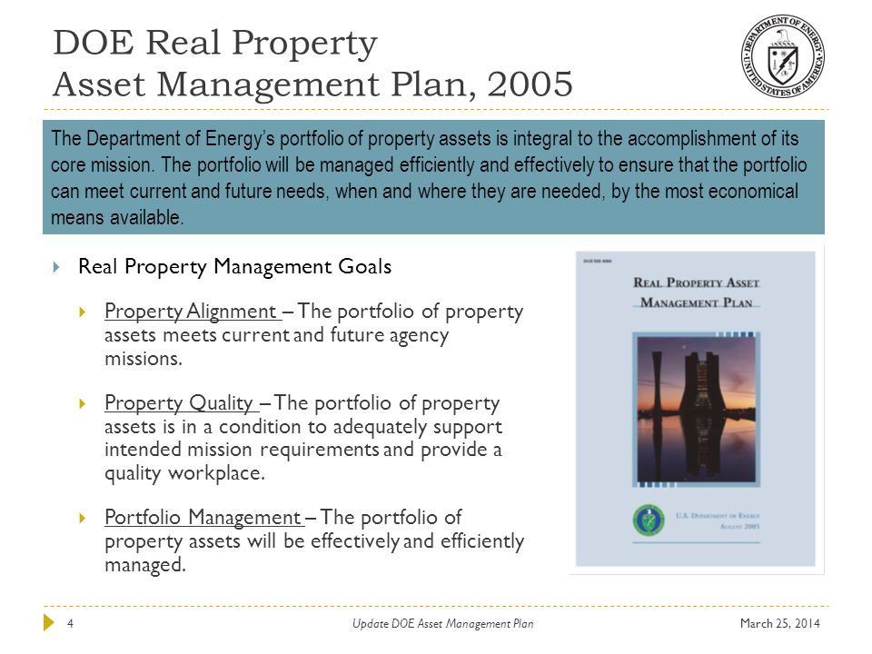 DOE Real Property Asset Management Plan, 2005